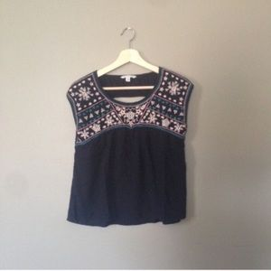 AE Embroidered Crop Top Tank